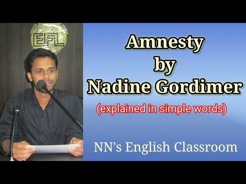 Amnesty by Nadine Gordimer | Zeitgeist | 2 Sem | General English