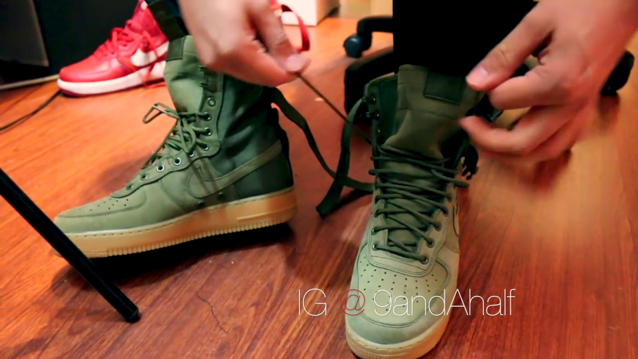 Nike Air Force 1 High Boot Unboxing & On Feet