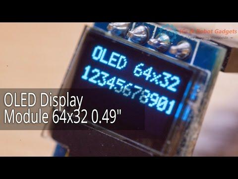 """Обзор OLED Display Module 64x32 0.49"""" от icstation"""