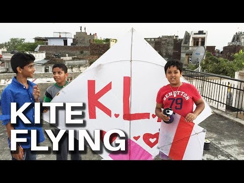 Kite Flying in India | Flying Indian fighter kite on Independence day | Fighter kite flying by FTFM