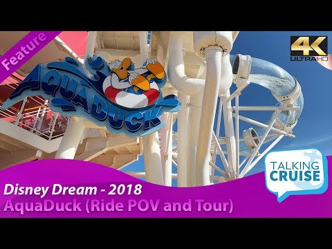 Disney Dream 2018  AquaDuck Water Coaster (Ride POV and Tour)