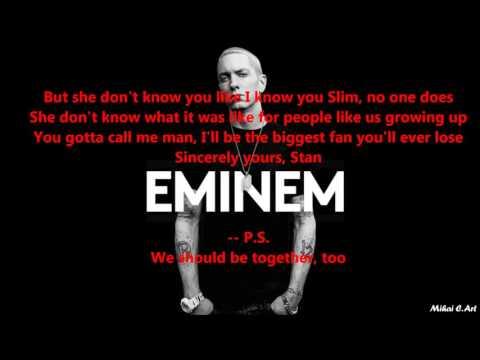 Eminem - Stan  Ft Dido With LYRICS (clean, Short Version)