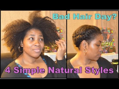 bad hair day styles thick hair 4 simple hairstyles for a quot bad hair 4098
