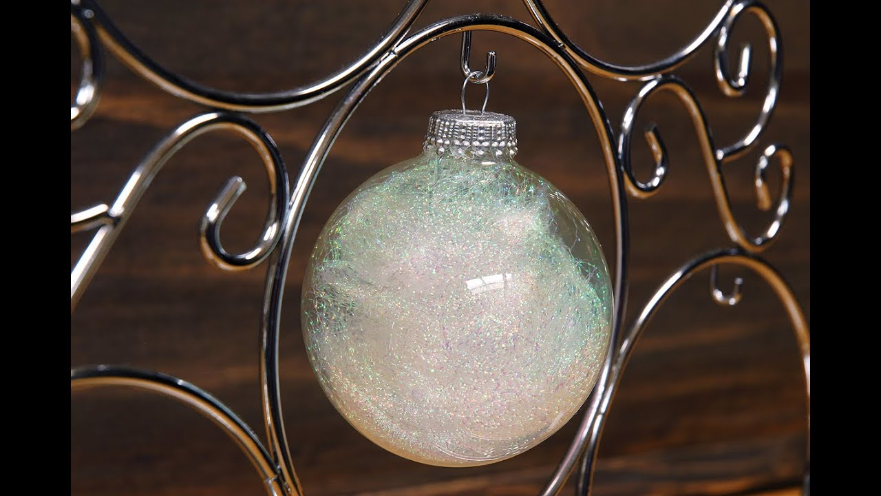 How to Make an Angel Hair Christmas Ornament - YouTube