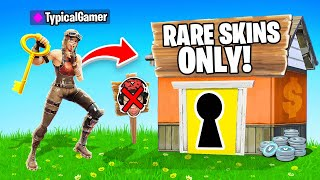 I Went UNDERCOVER in a RARE SKIN ONLY Tournament! (Fortnite)