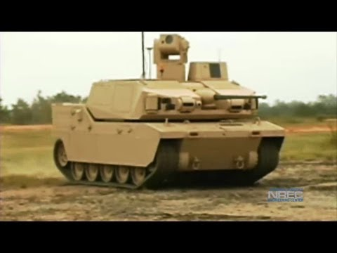 National Robotics Engineering Center - Black Knight Unmanned Ground Combat Vehicle Testing [1080p]