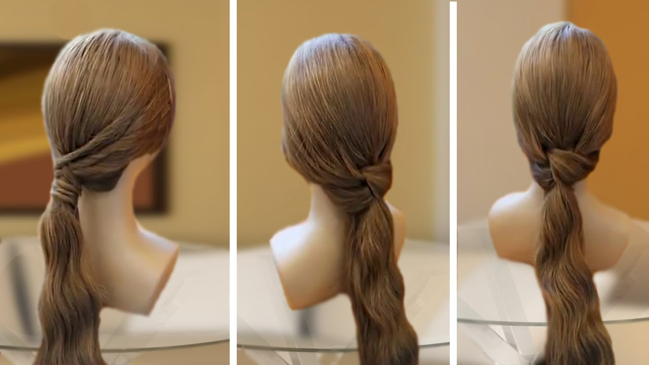 3 Easy Ponytail Hairstyles In 3 Minutes Muvicut Hairstyles