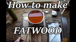 How to Make Fatwood for Bushcraft | Iron Wolf Industrial