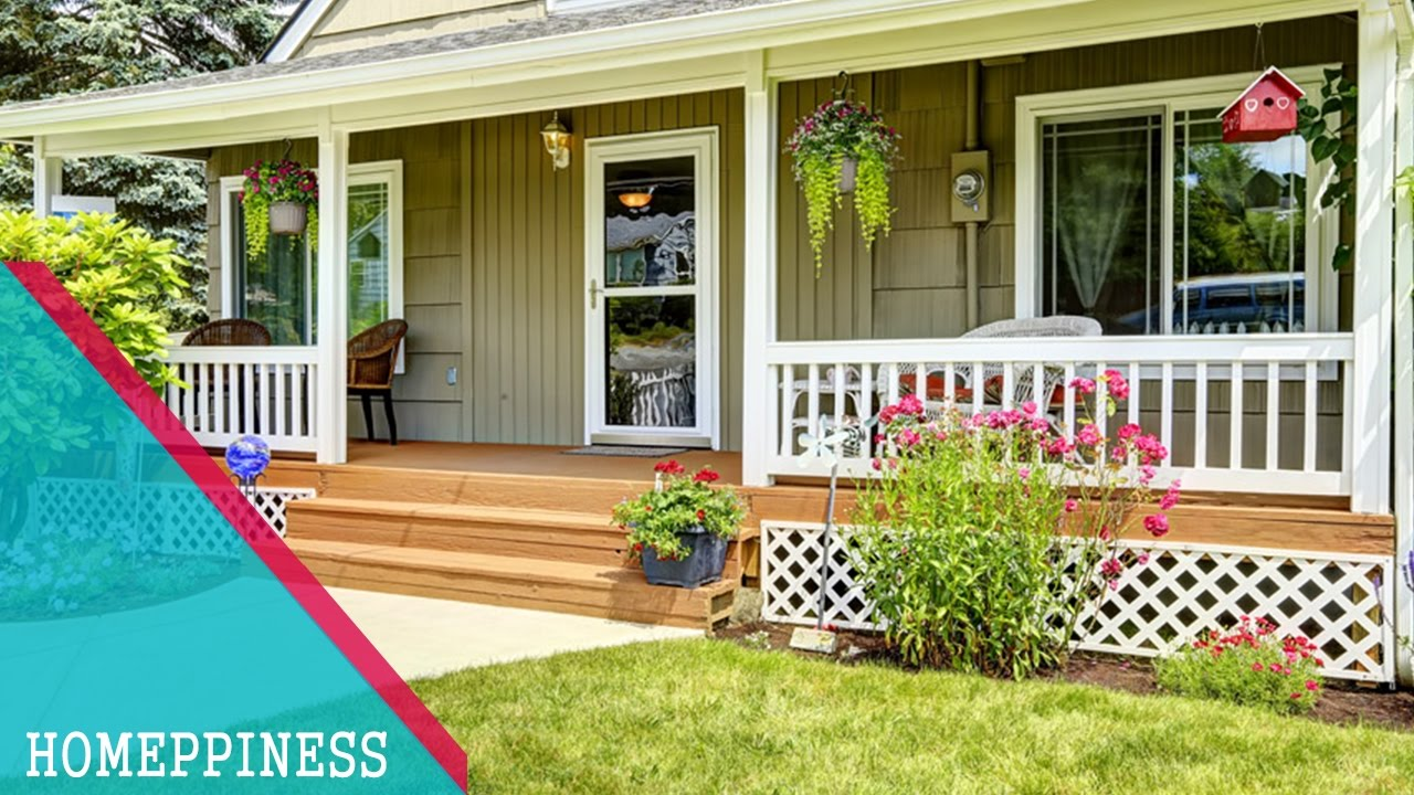 30 simple front porch design ideas homeppiness - Front Porch Design Ideas