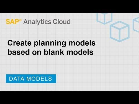 Create Planning Models Based On Blank Models: SAP Analytics Cloud (2019.6.1)