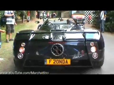 Pagani Zonda F atium Exhaust Sound!! - Rev + Accelerate - YouTube