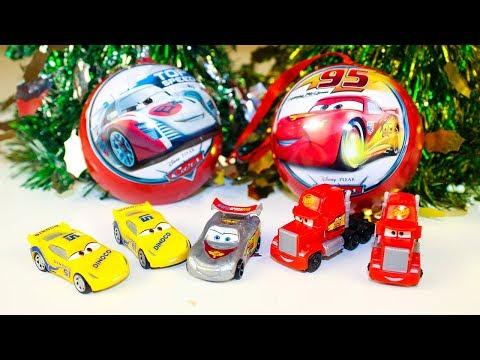 Видео: Видео про машинки для детей Киндер Сюрпризы Тачки Игрушки Молния Маккуин Surprise eggs toys Cars