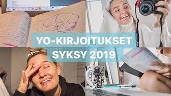 YO-KIRJOITUKSET 2019 | VLOGI