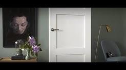 Ovien, ikkunoiden ja listojen maalaus valkoiseksi