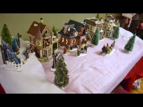 christmas village set up in 15 seconds 2017