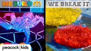 3D Chalk Art vs. Swirling Paint Destroyer | WE BUILD IT WE BREAK IT