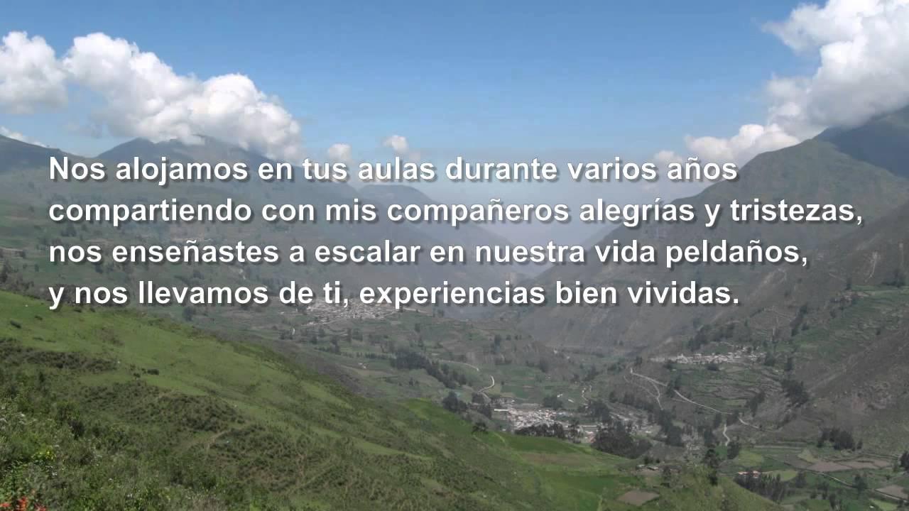 """Poema al colegio """"Adios Gabriel Moreno"""" - YouTube"""