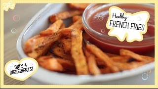 Healthy French Fries! Only 4 Ingredients! Collaboration with TheKitchyKitchen!