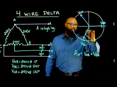 three phase 4 wire delta youtube Hunter Fan Wiring Diagram