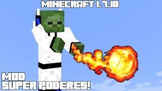 Minecraft 1.7.10 MOD SUPER PODERES MADAFAKAS! Elemental Masters Combat System Mod Review Español!