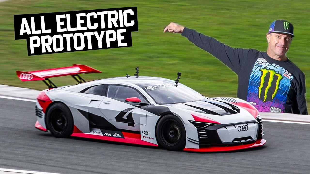 Ken Block Shreds  Audi  e-tron Vision GT Prototype \u0026 11,500rpm Audi V8 DTM Car