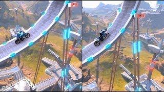 Trials Fusion PS4 vs PC Comparison