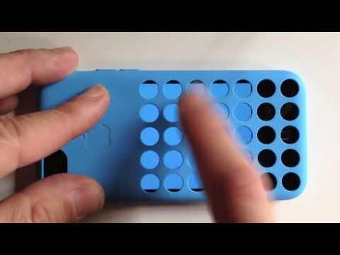 iPhone 5c純正ケースを自慢する時がやってきた! ケースの丸い穴を使うゲーム、Flipcase登場