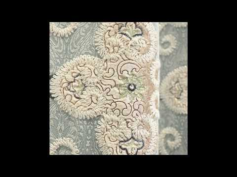 Baby Blue Damask Embroidery Bedroom Curtains HDCN1704051358352