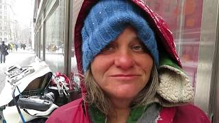 Stephanie CAMPING ON THE STREETS OF NEW YORK CITY