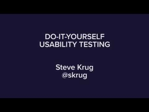 Do-It-Yourself Usability Testing with Steve Krug