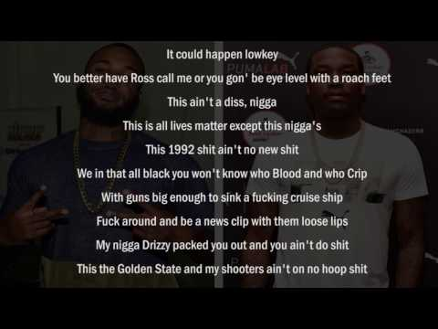 The Game - 92 Bars [Meek Mill Diss] LYRICS