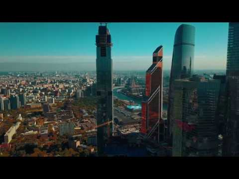 Москва сити полёт над небоскребами
