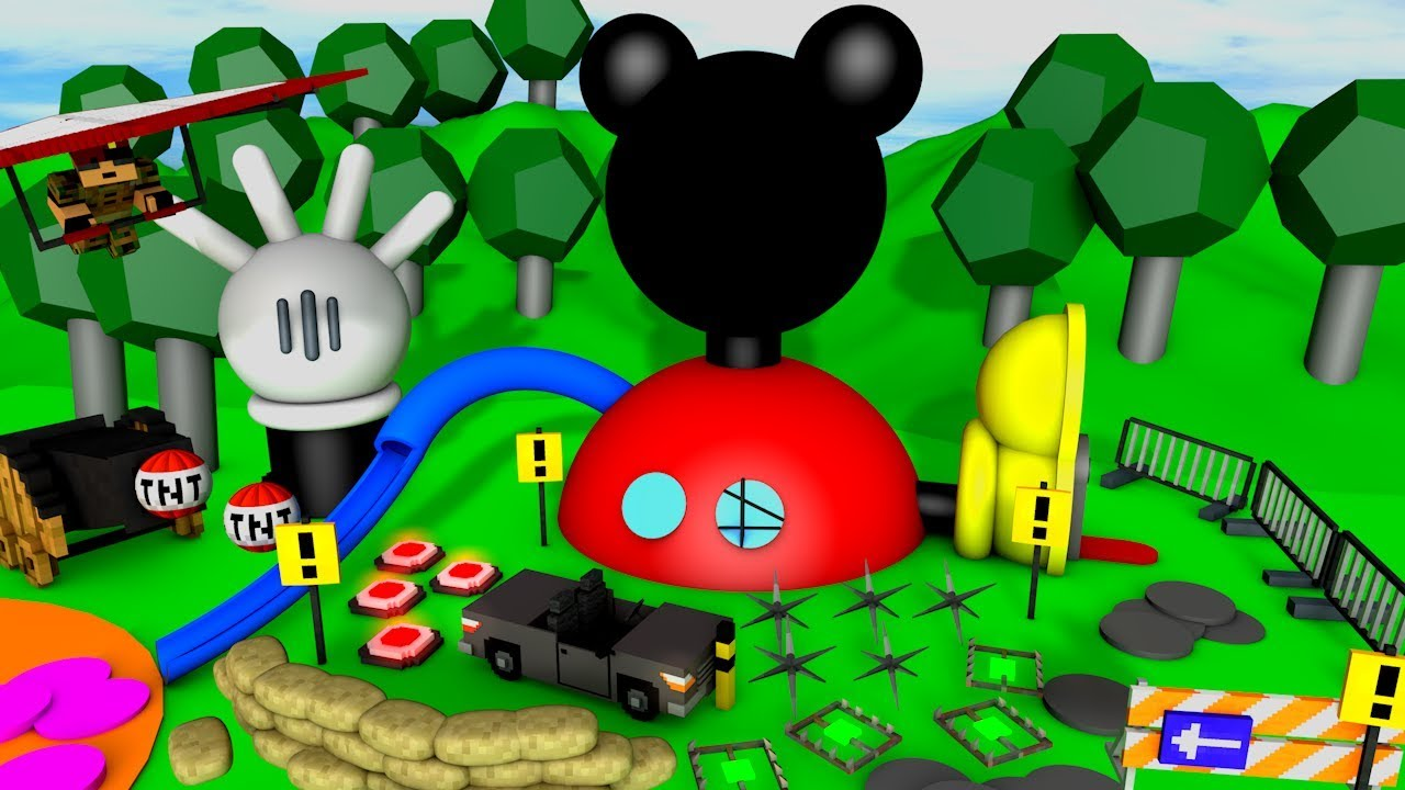 DIESES MICKEY MOUSE HAUS HAT VIELE FALLEN - YouTube