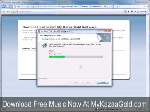 Install http://KazaGold.com MP3 Music Download Software
