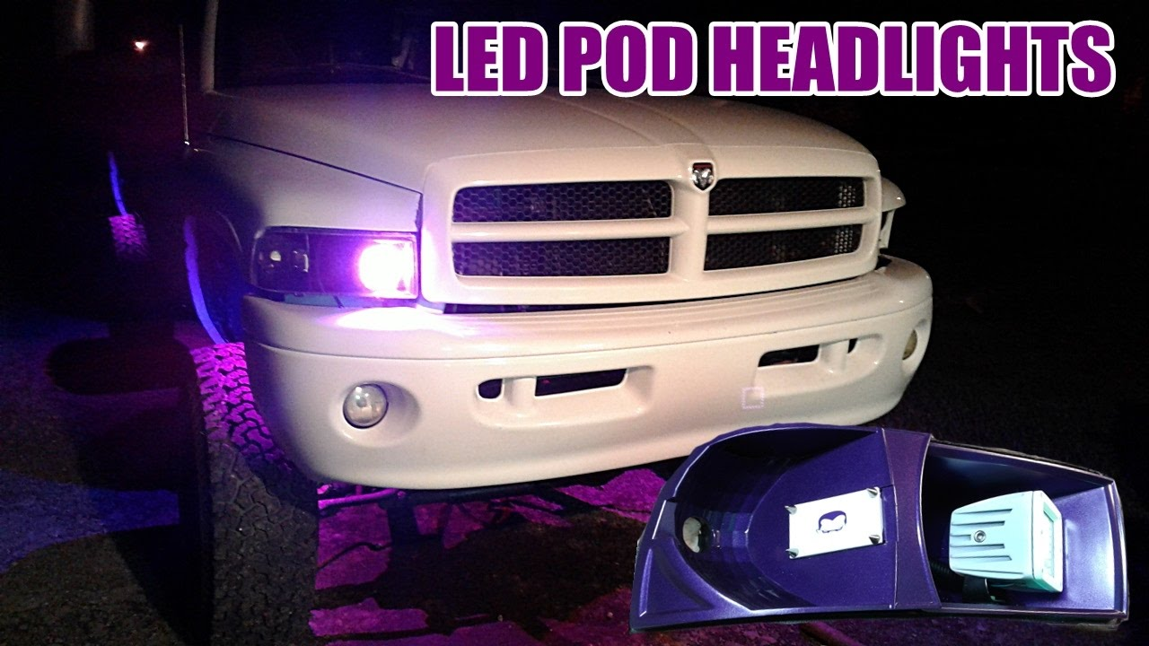 Custom Halo Led Pod Headlight Build Pt 3 They Work Youtube