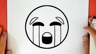 comment dessiner un emoji qui pleure - Dessin Emoji