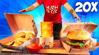УВЕЛИЧИЛИ МЕНЮ McDonald's в 20 раз / ОГРОМНЫЙ БИГ МАК /  КУРИНЫЕ НАГГЕТСЫ /  ПИРОЖОК С ВИШНЕЙ /