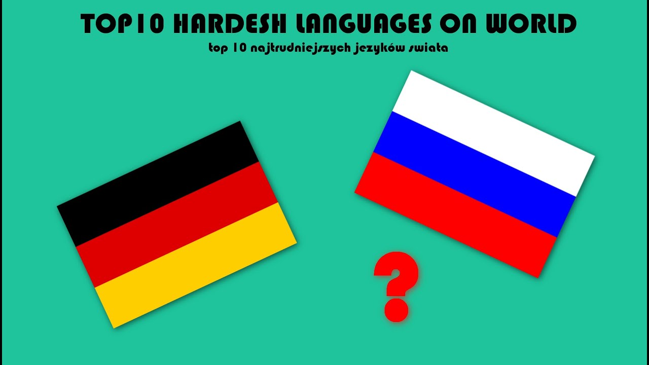 TOP HARDEST LANGUAGES ON WORLD MOST DIFFICULT YouTube - World most language
