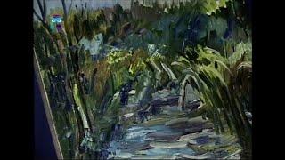 Уроки рисования (№ 78) масляными красками. Рисуем заросший пруд
