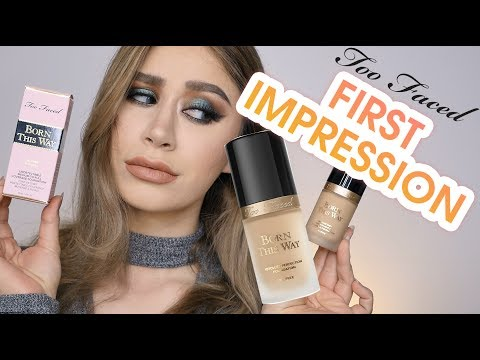 TOO FACED BORN THIS WAY FOUNDATION FIRST IMPRESSION REVIEW & DEMO