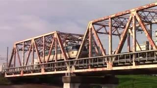 【おおさか東線】貨物列車 赤川鉄橋通過