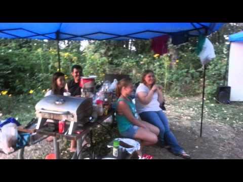 Projector karaoke camping