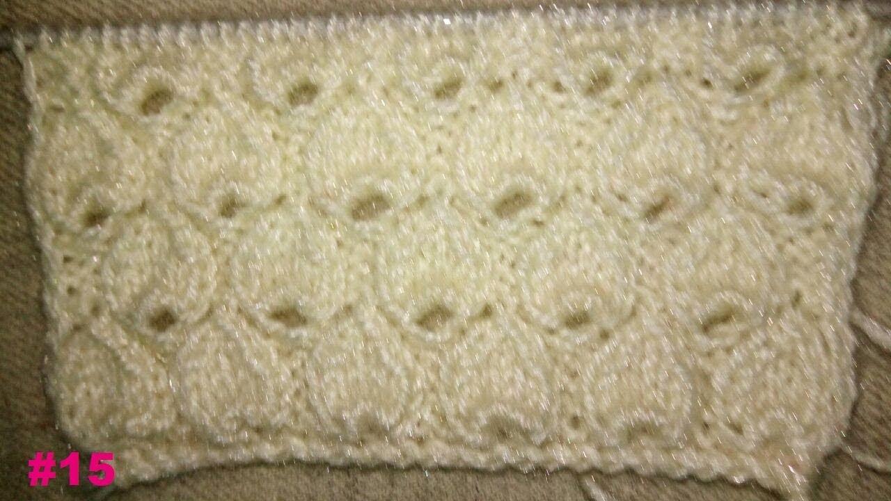 36c5d7ed2 Easy Single Color Knitting Pattern No.24 (TearDrops)