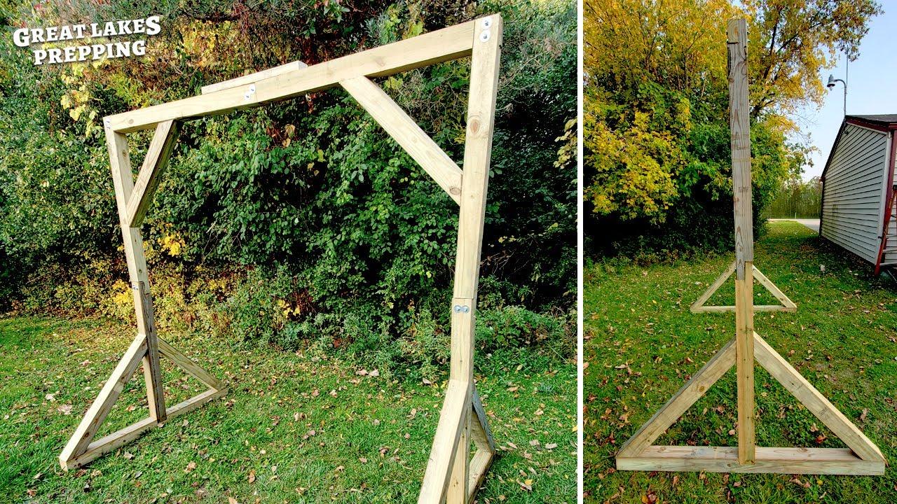 building a portable deer skinning rack