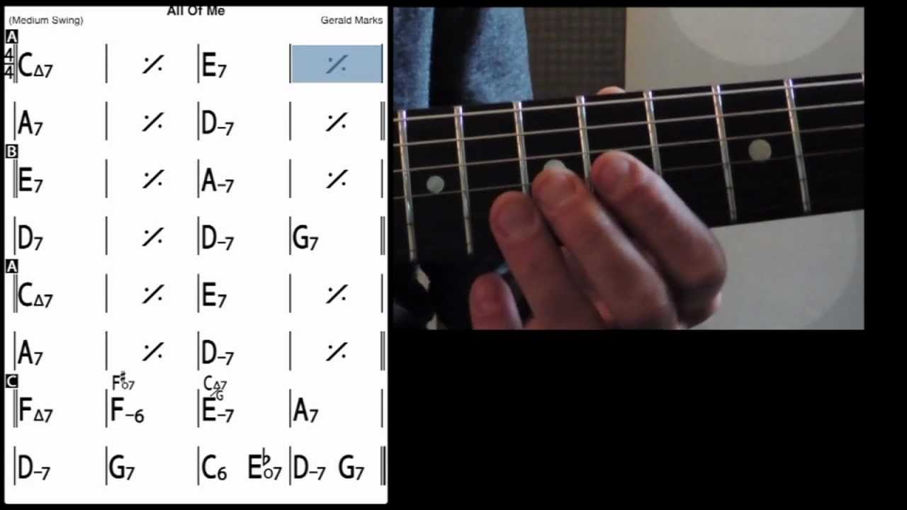 All Of Me Guitar Lessons Tab Melody Playback Youtube
