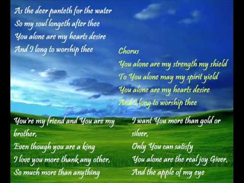 as the deer panteth for the water song free download