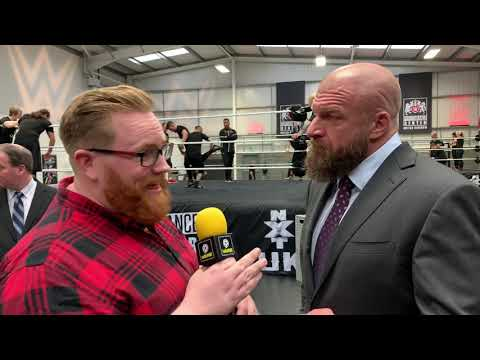 TRIPLE H || speaking at the launch of the NXT UK Performance Center