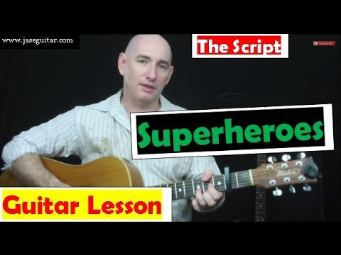 How To Play Superheroes on Guitar By The Script ☆ EASY! ☆ \