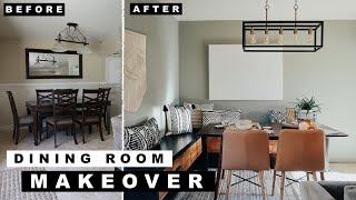 EXTREME AND EASY DIY DINING ROOM MAKEOVER!!!