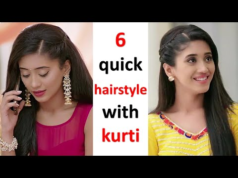 5 easy and quick hairstyle with kurti || simple hairstyle || updo hairstyle || party hairstyle